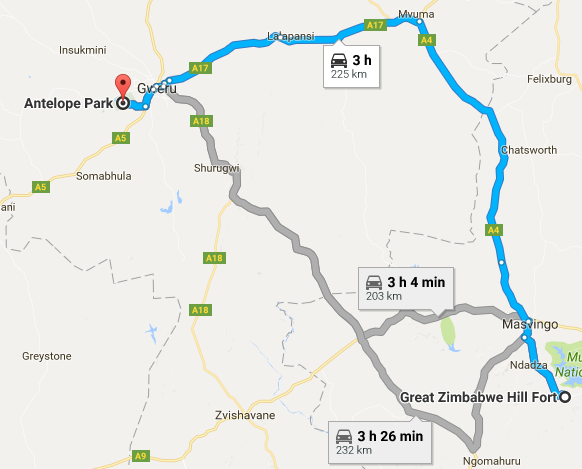 antelope park route