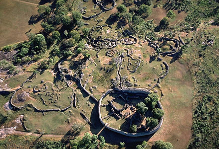 great zimbabwe aerial view
