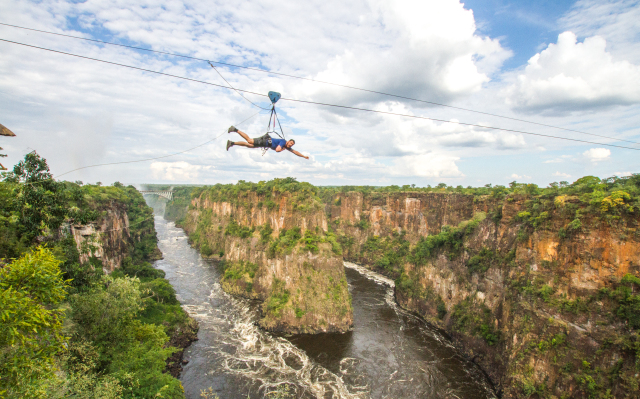 vic falls gorge zip