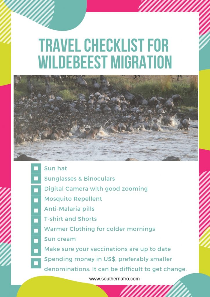 Travel-Checklist-for-Wildebeest-Migration-724x1024 The Great Serengeti Migration: + Free 11 Point Checklist